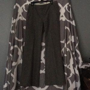 0 ankle Gap gray lined wool dress pants